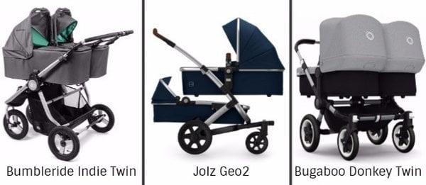 Syskonvagnar med två liggdelar